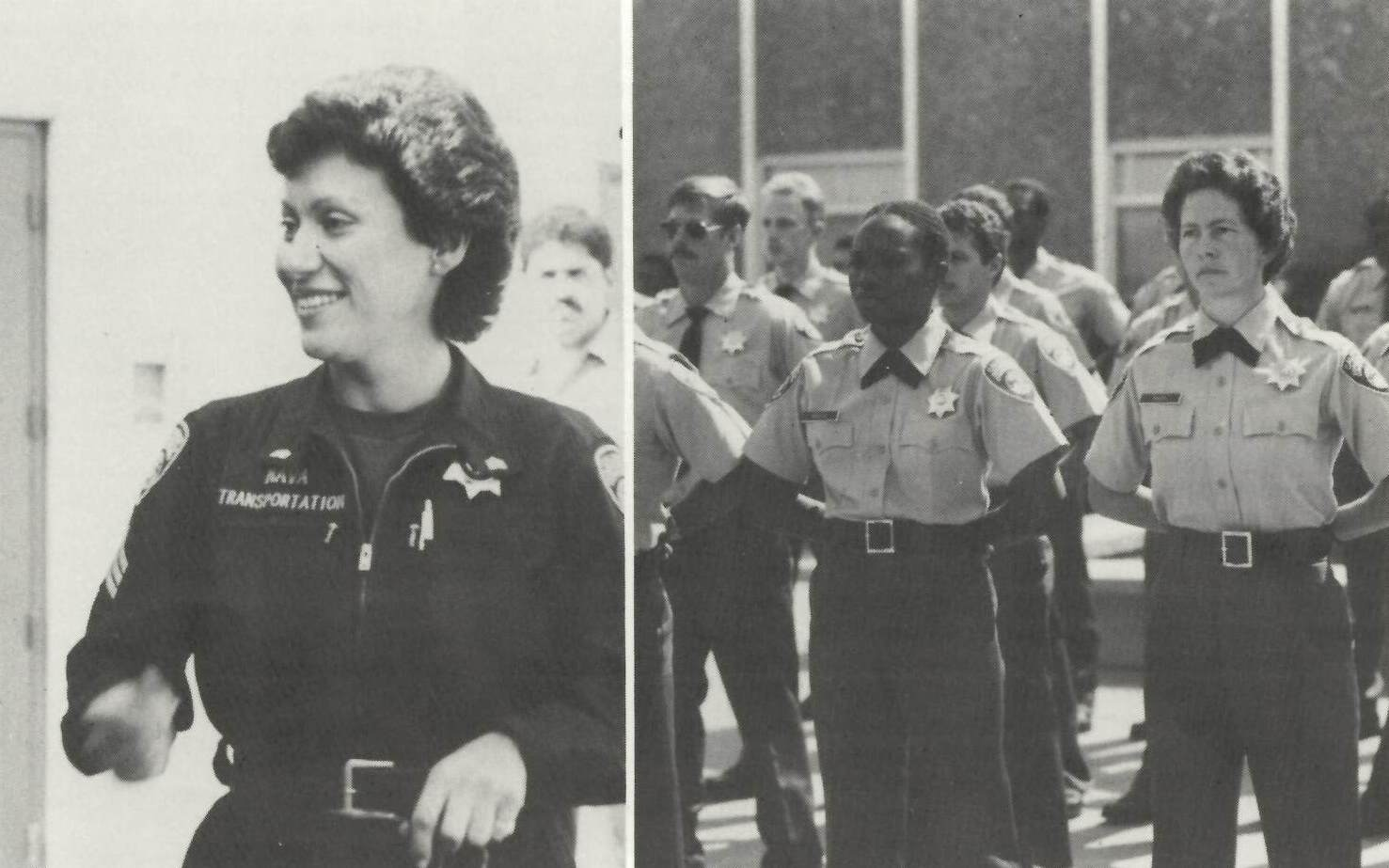 A female correctional sergeant and female cadets.