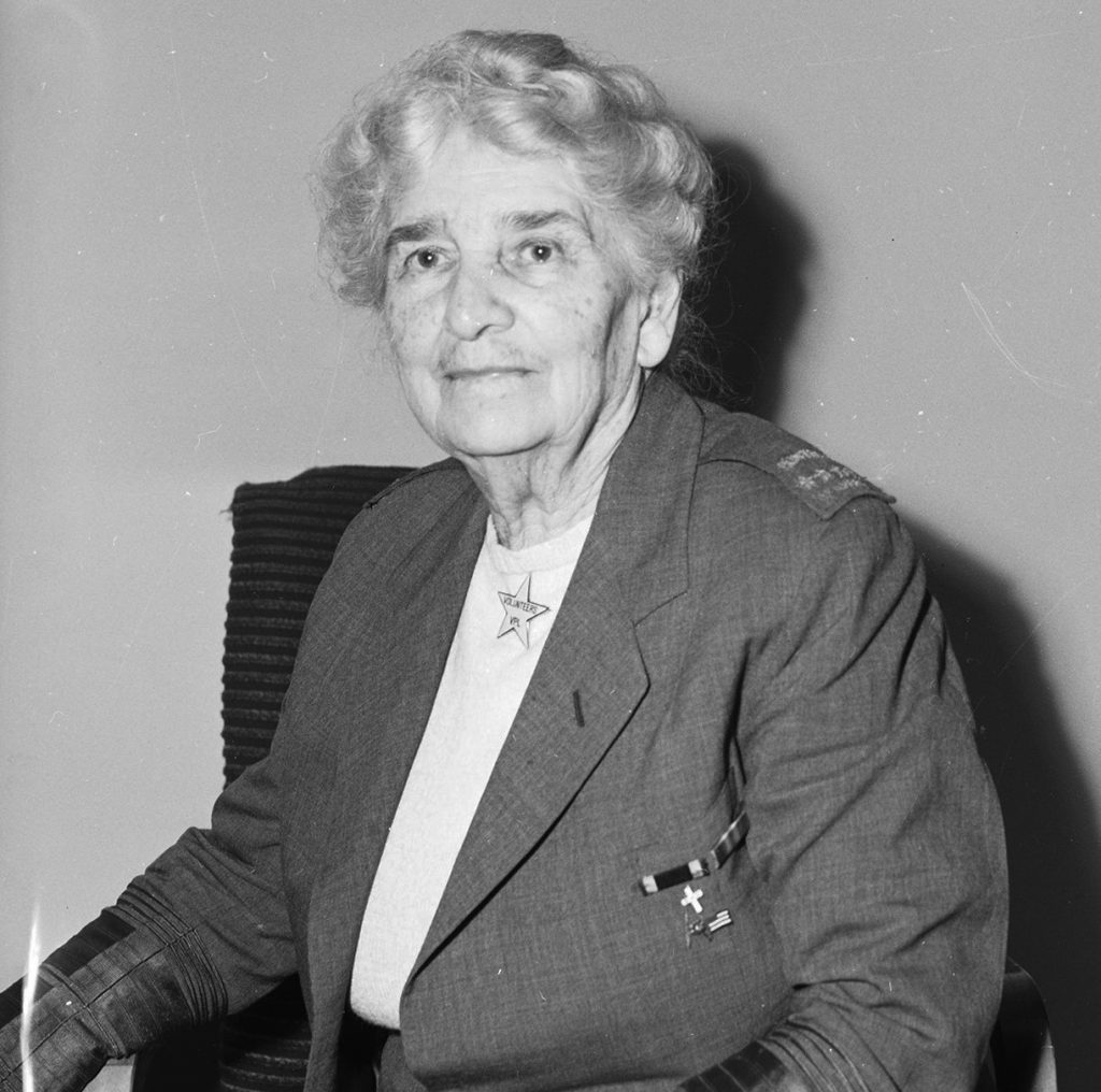 Maud Booth in 1945.