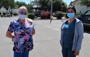 Two nurses at Pleasant Valley prison.
