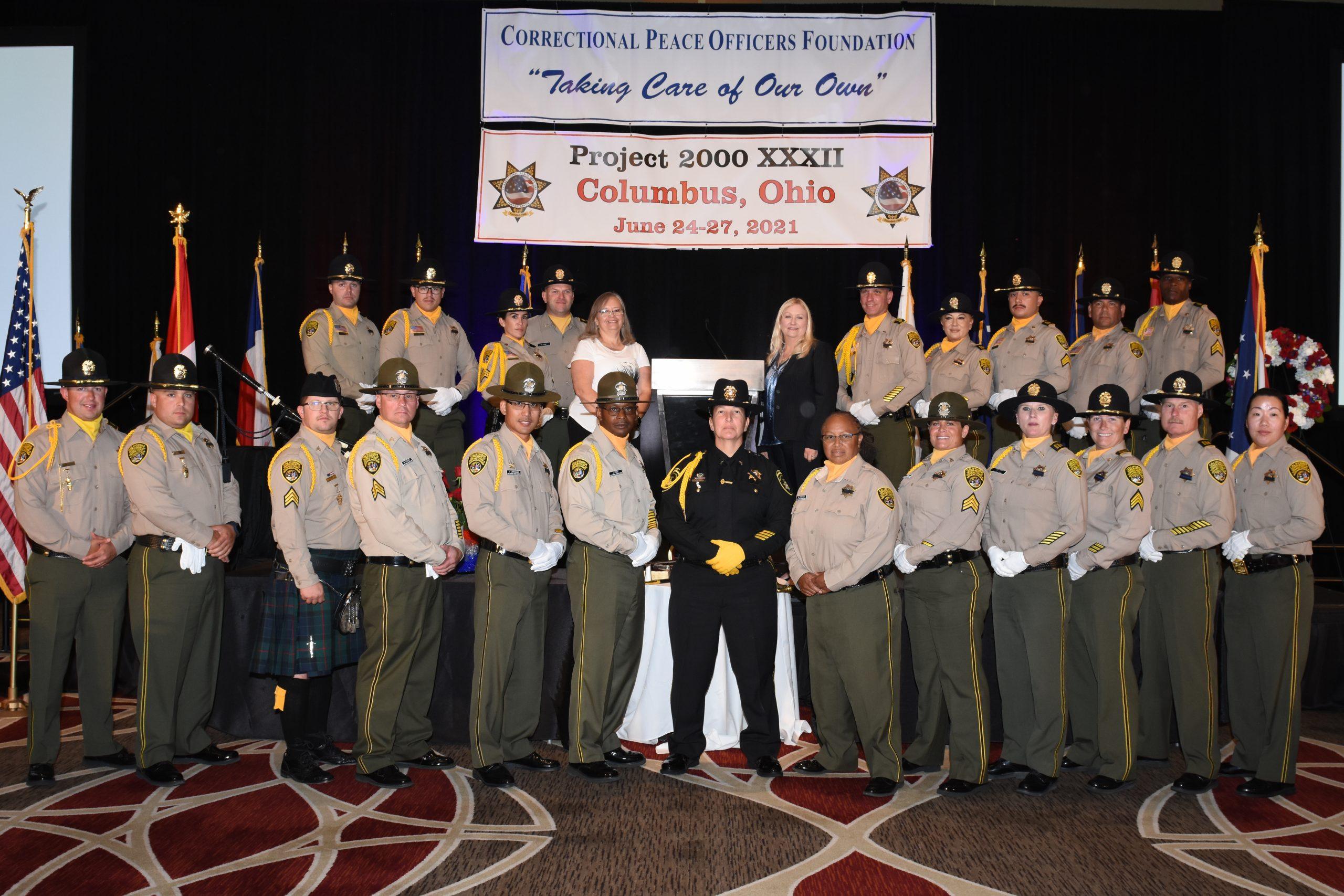 CDCR honor guards and the CDCR Secretary.