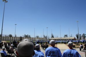 CTF veterans unit ceremony with incarcerated people.