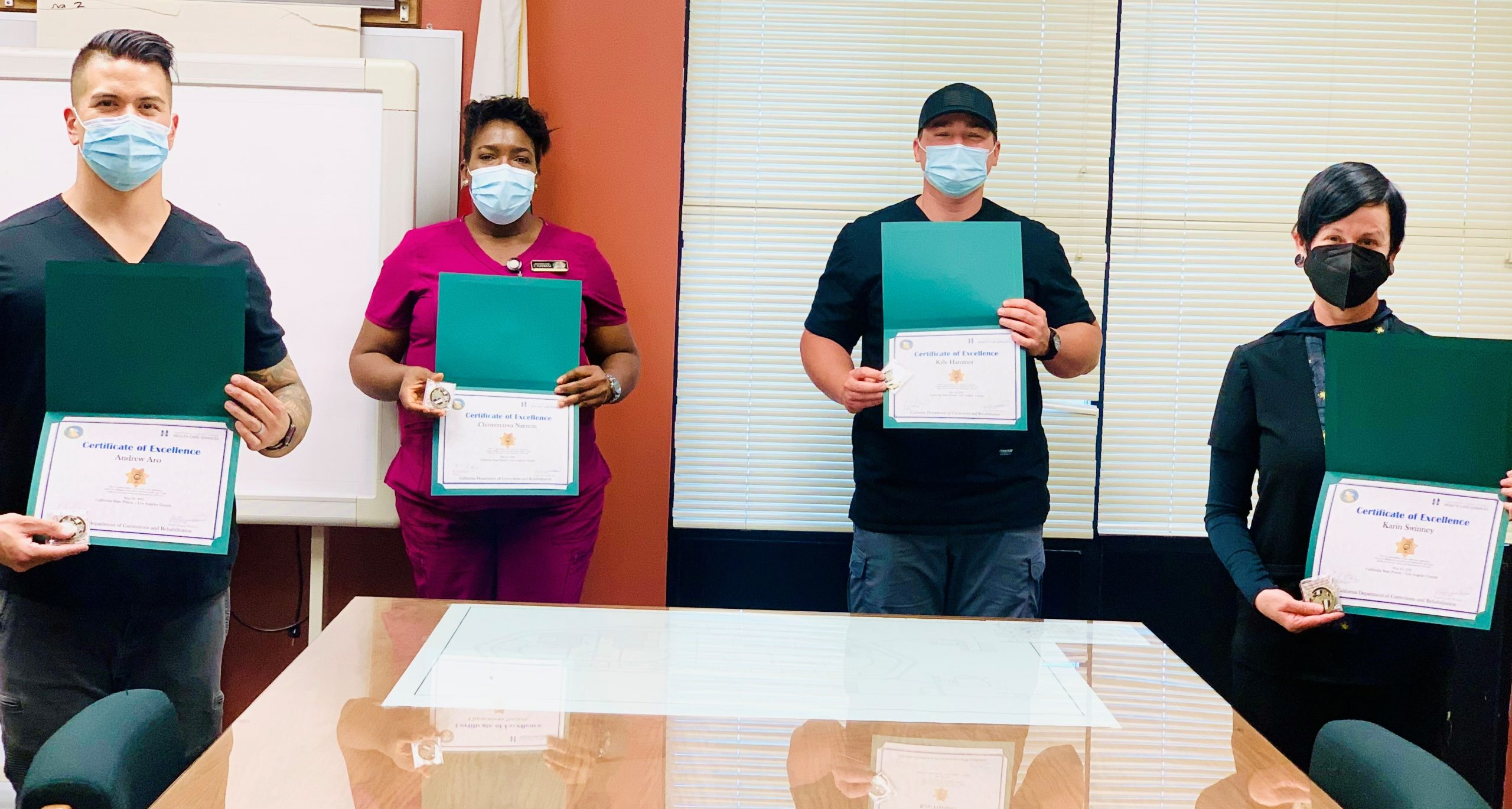 Nursing staff with certifications