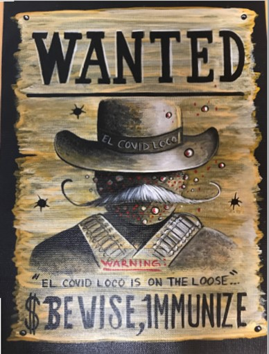 Prison poster contest shows a wanted poster.