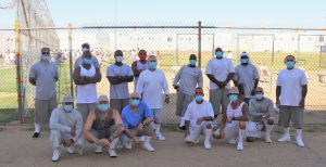 Centinela prison inmates took part in a cancer walk.