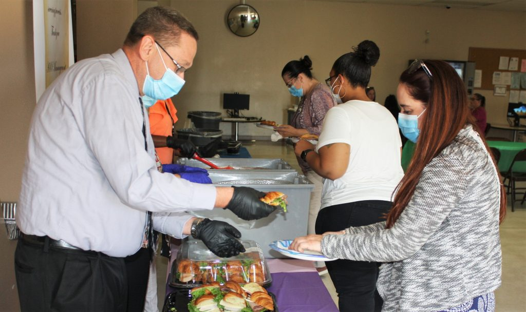 Avenal prison leader serves lunch to employees.