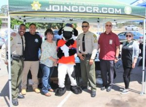 San Diego community event with CDCR staff to help students.