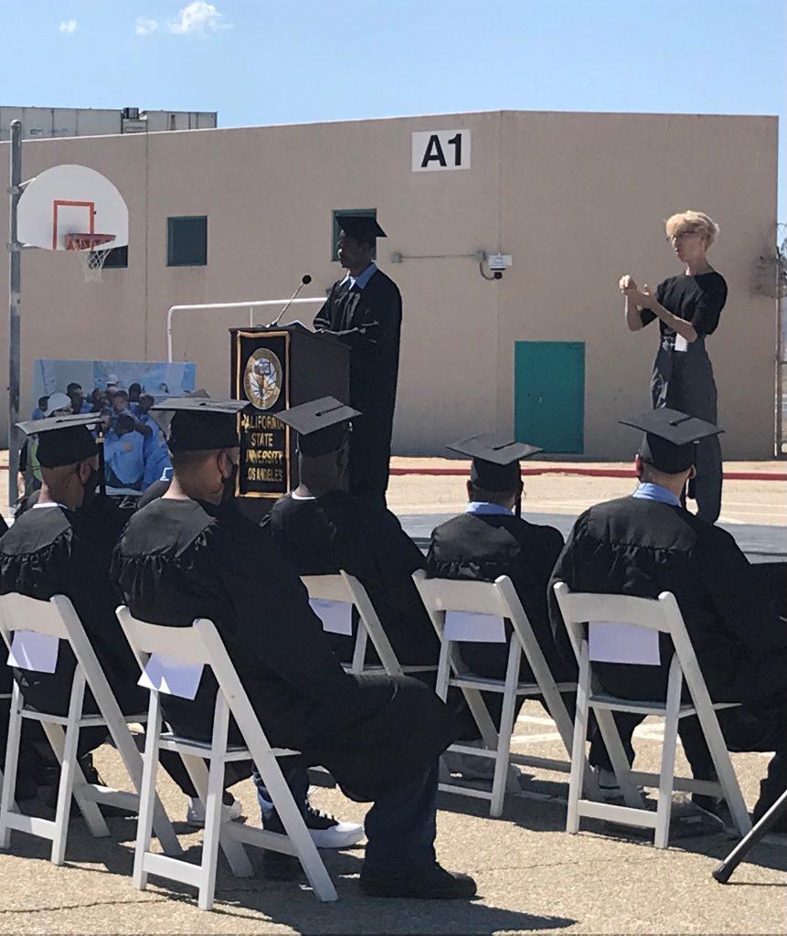 Los Angeles County prison graduation.