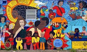 Mural of hispanic heritage.