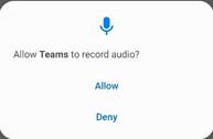 allow Microsoft Teams to record