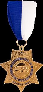 CDCR Gold Star medal