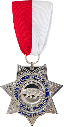 CDCR Silver Star medal