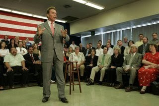 Gov. Arnold S. speaking in town hall Bakersfield