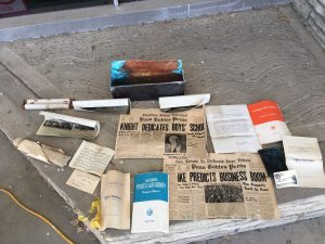 1954 Time Capsule contents