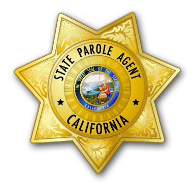 gold State Patrol Agent star badge