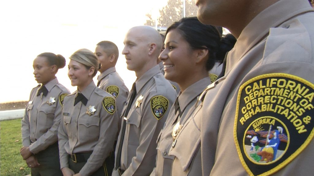 Female and male CDCR in uniform.