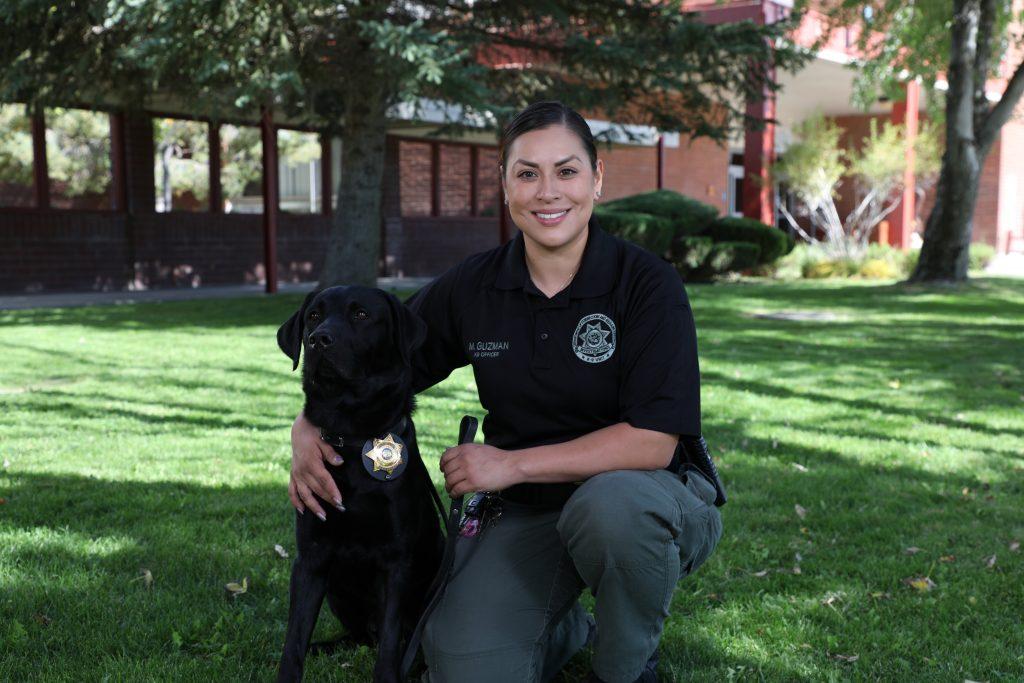 Officer M. Guzman and K9
