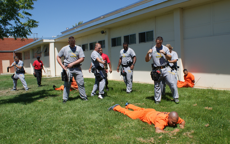 Cadets training at the Academy