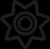 black icon badge