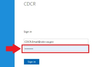 Sign in screen highlighting field for entering password