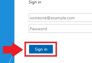 Sign in screen highlighting Sign in button