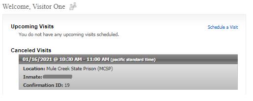 Cancellation Status summary
