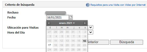 seleccione la fecha