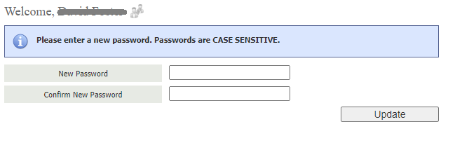 new and confirm password input