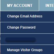 My Account drop down menu