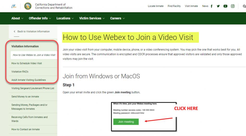 webex instruction