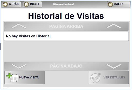 historial de visitas