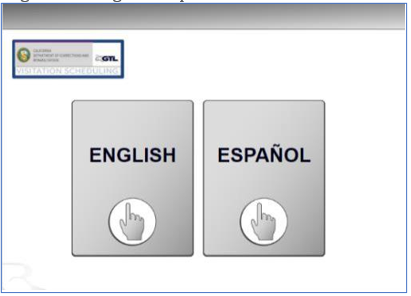 Haga clic en inglés o español