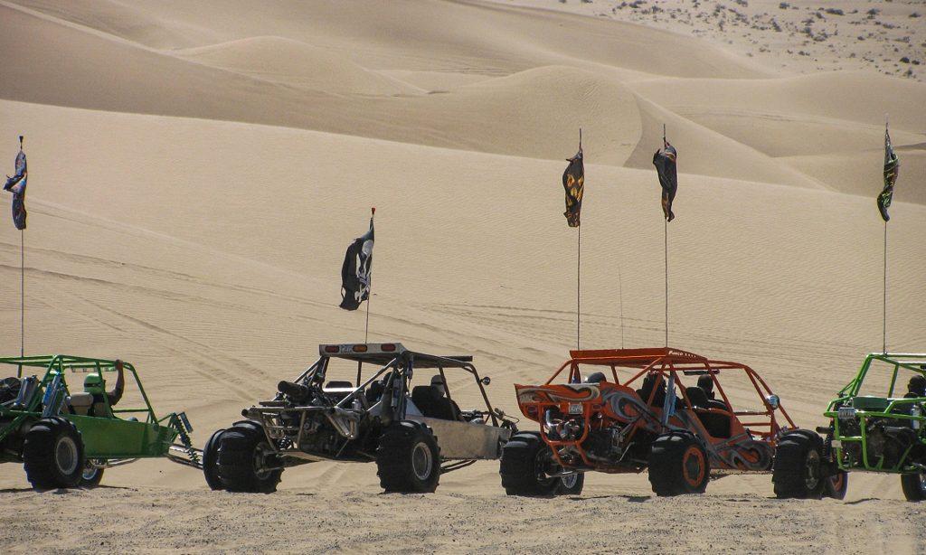 Algodones Dunes with buggies