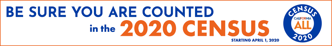 Be sure you are counted in the 2020 Census starting April 1, 2020
